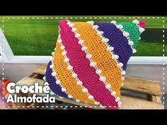 Crochet Cushion Cover, Crochet Cushions, Crochet Pillow, Crochet Gifts, Easy Crochet, Square Patterns, Colorful Pillows, Crochet Squares, Pillow Covers