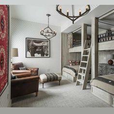 @foxandchatto - Bunk room goals ✔️ sleepover goals ✔️ lodge goals ✔️ fun goals ✔️ love it ❤️ @locatiarchitects #bunkroom #skilodge #kidsinteriors #design #interiors #rustic #countryinteriors #foxandchatto - https://www.instagram.com/p/BXwEUoBBxEe/