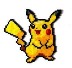 Pikachu Pokemon perler bead sprite