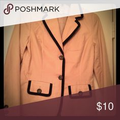 Merona blazer Tan with black trim. I have worn this once. It's in excellent condition. Merona Jackets & Coats Blazers