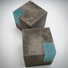 Modern concrete and resin bookends. Set of 2 by erinalthea on Etsy