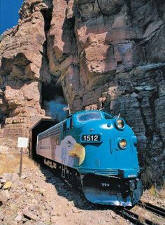 Verde Canyon Railroad--love this blue train never got to ride it.