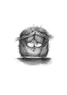 Owl illustration owl decor pencil drawing wall by annmarireigstad