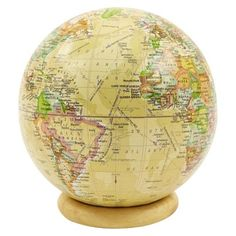 Large vintage world map desk tidy is fun vintage styled world gifts globe with stand found at target for 999 with free shipping gumiabroncs Image collections