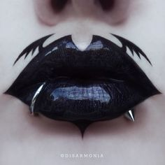 "2,745 Likes, 57 Comments - Veronica Anrathi (@d1sarmon1a) on Instagram: ""Here's a silly little batty lip art for today! I used @katvondbeauty Witches lipstick and Trooper…"""