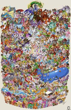 Guy Draws All 721 Pokemon in One Massive Image