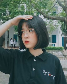 #save=follow me! Korean Short Hair, Korean Girl, Beautiful Asian Girls, Pretty Girls, Japanese School Uniform, Girl Short Hair, Ulzzang Girl, Girl Hairstyles, Hair Inspiration