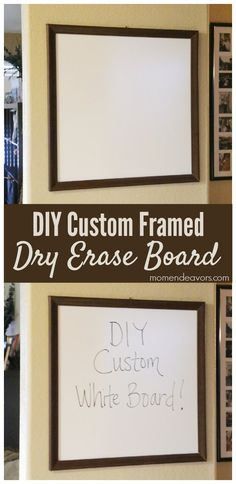 Create a custom framed dry erase board for any space!