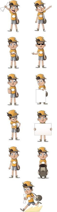 Boy Character Free Vector