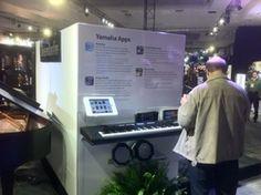 Yamaha exhibit booth using Lilitab iPad kiosks #retail #tablets