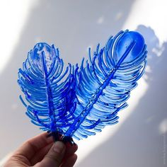 Fused glass feathers