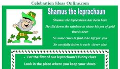 St Patricks Day scavenger hunt!