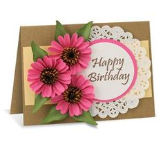 Echinacea Card - McGill Inc.Design By janine Blackwelder  Create a delightful birthday card filled with Echinacea flowers.