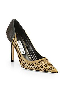Jimmy Choo - Able Perforated Leather Pumps