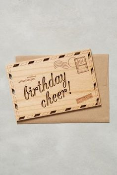 Cardtorial Wooden Birthday Cheer Card #anthrofave