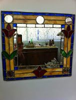 יצירות ויטראז' - מסגרת למראה :הסטודיו בפייסבוק Google+https://www.facebook.com/NurithaKadarut