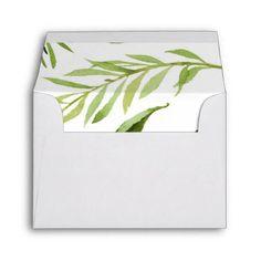 Greenery Envelope RSVP Thank You Envelope - rsvp gifts card cards diy unique special