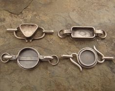 Inspiring bezel clasps by downtothewiredesigns, via Flickr