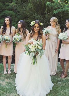 Summer Wedding Blush Bridesmaid Dresses | Seriously… we just love how everything turned out! And these ...