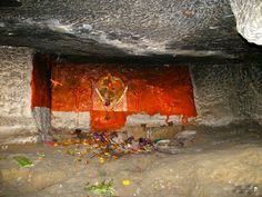 ASHERIGAD - Inside the cave is this rough idol of Lord Hanuman – also called Maruti – the monkey god who is the son of Lord Vayu – the god of the wind.