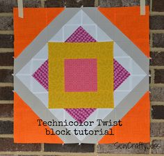SewCraftyJess: Technicolor Twist block tutorial