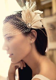 birdcage+hats | Fantastic Amber Rhinestone Feather Birdcage Wedding Veils Fascinator
