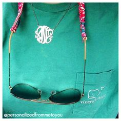 Monograms pair perfectly with Vineyard Vines and Lilly Pulitzer