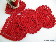 Red Heart Coasters - Crochet Home Decor | Craftsy
