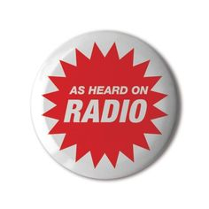 #BBOTD @stereohype #button #badge of the day by FL@33 https://www.stereohype.com/411__fl33 @flat33 #radio #broadcast