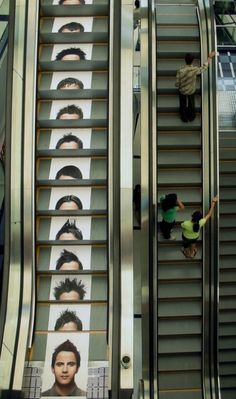 Clever Ads On Stairs