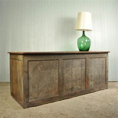 Vintage French Shop Counter - Unusual Side Table - Original House