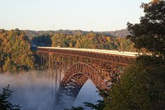 Morning at the New River Gorge Bridge, Fayetteville WV 2009