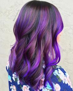 35 Purple Balayage Hair Color Ideas From Subtle To Vibrant - Hair Styles - Hair Style Ideas Balayage Hair Purple, Hair Color Purple, Cool Hair Color, Lilac Hair, Ashy Hair, Purple Style, Brown Balayage, Balayage Brunette, Green Hair