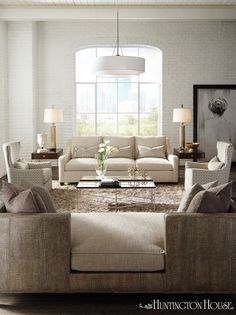 Soft Neutral Furnishings From Huntington House Turn This Transitional Space  Into An Instant Classic. Huntington House Furniture