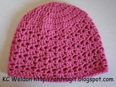Oh Frog It!: Free Crochet Pattern - Hadley Lace Hat