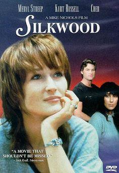 DVD CINE 217 - Silkwood (1983) EEUU. Dir: Mike Nichols. Baseado en feitos reais. Sinopse: é un documento que exemplifica a defensa antinuclear. Narra unha historia real, a de Karen Silkwood, unha traballadora dunha central nuclear de Oklahoma, que loitou por desvelar as ineficaces medidas de seguridade da súa empresa