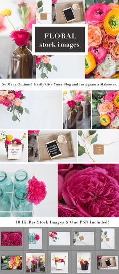 Floral Stock Images for Bloggers by TwigyPosts on @creativemarket