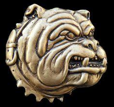 Bulldog Bull Dog Spikes Collar Pet Animal Belt Buckle Belts Buckles  #CoolBuckles #bulldog #dog #guarddog #pet #beltbuckle #animal