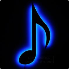 Eighth Note  Music Theme Lighted Home Decor by LuxChroma on Etsy, $75.00