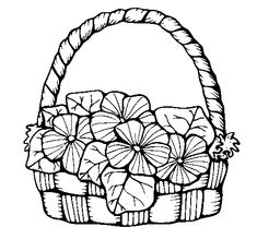 Dibujos de canastos con flores o frutas - Imagui
