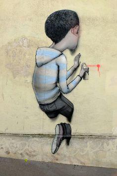 Seth - street art - Paris 13 - passage sigaud