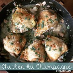 Chicken au Champagne | Chicken | aHousewife food