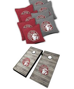 Love this Mississippi State Bulldogs Distressed 10-Piece Cornhole Set on #zulily! #zulilyfinds