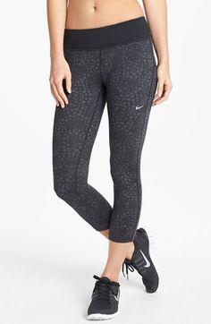 Nike 'Epic Run' Print Crop Leggings available at #Nordstrom