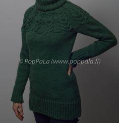Palmikkokaarrokeneule Novitan Isoveli -langasta http://www.poppala.fi/?p=518