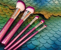 $29.95 The Filthy Mermaid Signature Brush Set Our signature Filthy Mermaid makeup brush kit in a sexy, shiny ass seashell bag! Kit contains 5 purple dipped lux brushes: 1 mineral foundation/powder brush, 1 blush brush, 1 eye shadow brush, 1 blender/contour brush, and 1 liner brush. Our large iridescent seashell bag is 9″ x 9″ and is stamped with our logo in purple to match. Interior is lined in pink velour. Perfect to take with you on all of your mermaid adventures.