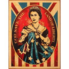 """""""Mi piace"""": 4,640, commenti: 23 - Shepard Fairey (@obeygiant) su Instagram: """"From the Archives: #ShepardFairey God Save the Queen, 2012 Edition 2 of 6 Silkscreen on Wood Panel…"""""""