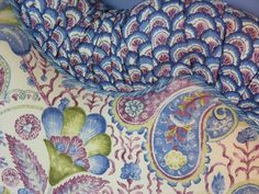 Kate Dickerson bedroom design, Narragansett, RI - Brunschwig & Fils fabrics