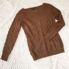 TCEC Sweaters - TCEC Milk Chocolate Knit Sweater Size Small