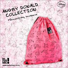 Beforbag#angry donald collection#drawstring backpack#Rs.499#